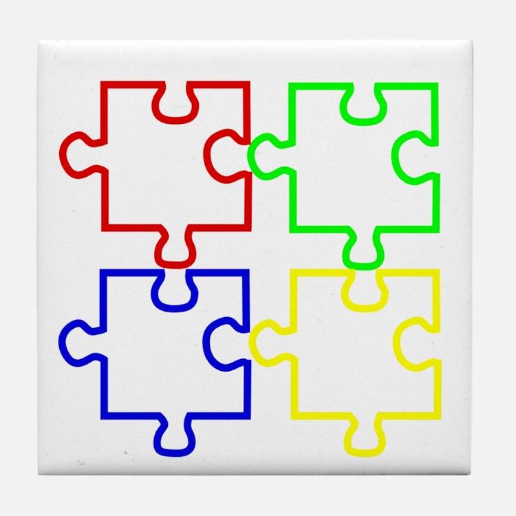 Autism Awareness Puzzles Tile Coaster