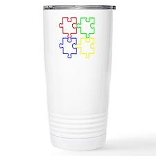 Autism Awareness Puzzles Travel Mug