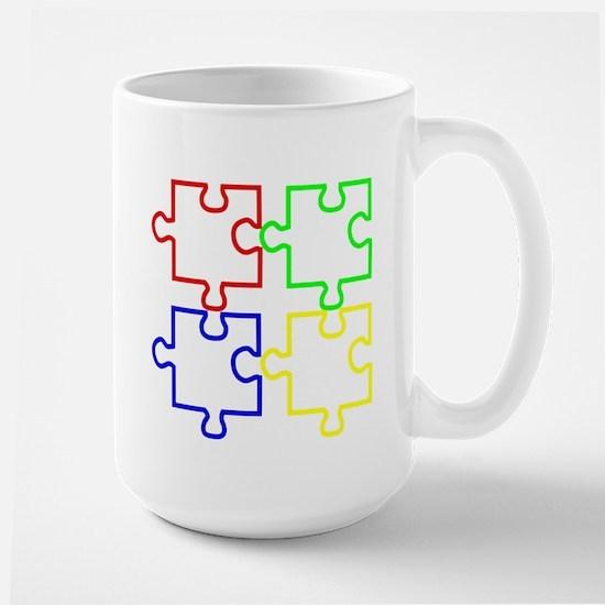 Autism Awareness Puzzles Large Mug
