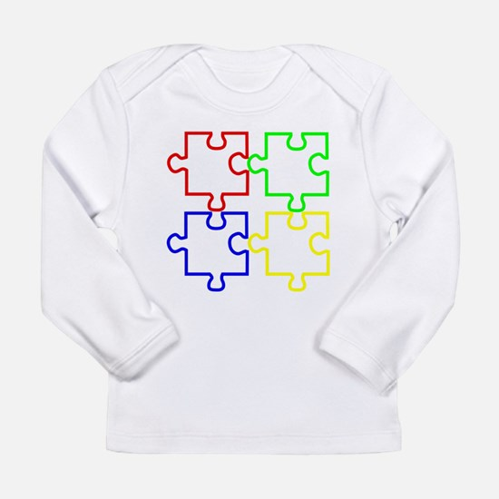 Autism Awareness Puzzles Long Sleeve Infant T-Shir