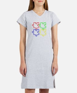 Autism Awareness Puzzles Women's Nightshirt