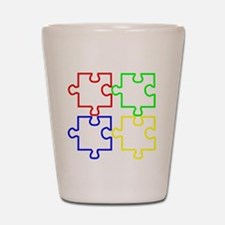 Autism Awareness Puzzles Shot Glass