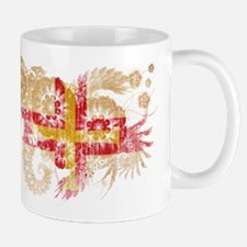 Guernsey textured flower aged copy.png Mug