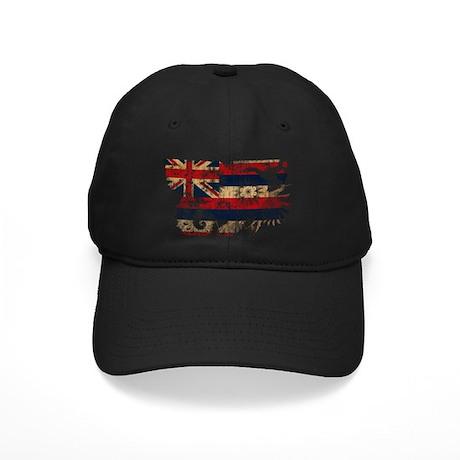 Hawaii Flag Black Cap