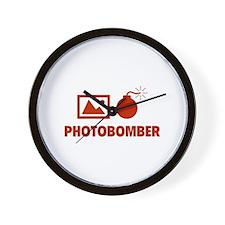 Photobomber Wall Clock