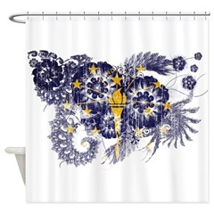 Indiana Flag Shower Curtain