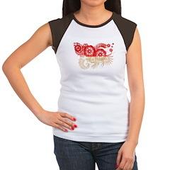 Indonesia Flag Women's Cap Sleeve T-Shirt