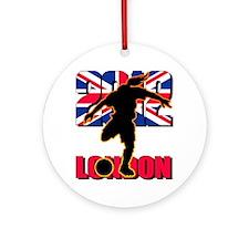 Soccer 2012 London Ornament (Round)