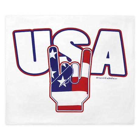 USA Rocks King Duvet