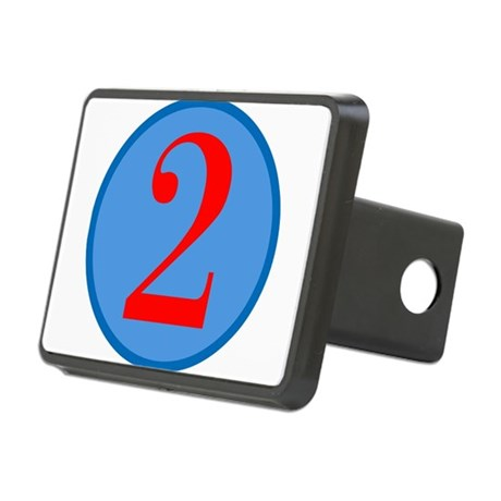 Number Two Birthday Rectangular Hitch Cover
