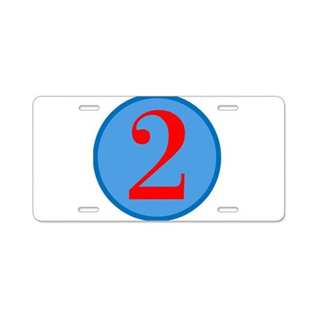 Number Two Birthday Aluminum License Plate