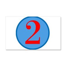 Number Two Birthday Car Magnet 20 x 12
