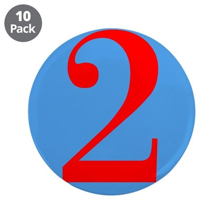 """Number Two Birthday 3.5"""" Button (10 pack)"""