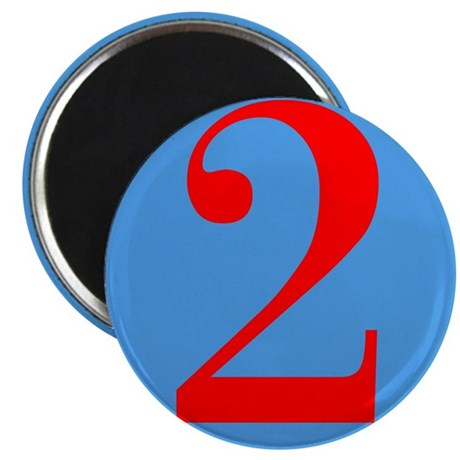 """Number Two Birthday 2.25"""" Magnet (100 pack)"""