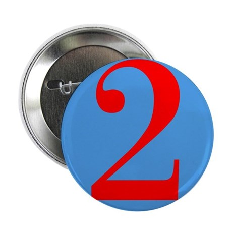 "Number Two Birthday 2.25"" Button (100 pack)"