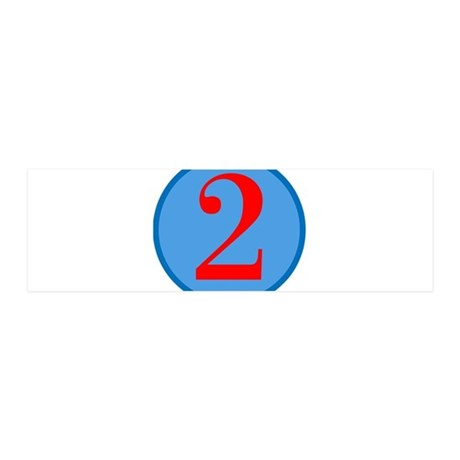 Number Two Birthday 42x14 Wall Peel