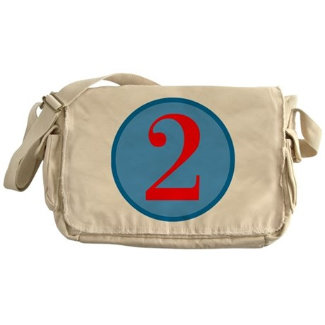 Number Two Birthday Messenger Bag