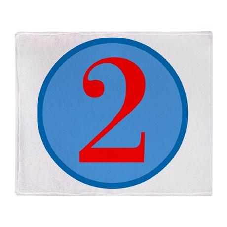 Number Two Birthday Throw Blanket