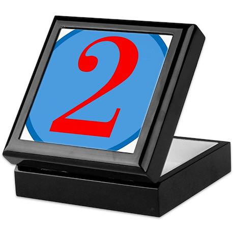 Number Two Birthday Keepsake Box