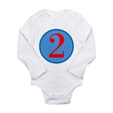 Number Two Birthday Long Sleeve Infant Bodysuit