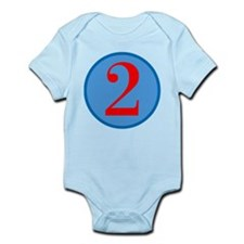 Number Two Birthday Infant Bodysuit