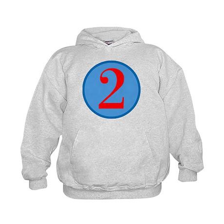 Number Two Birthday Kids Hoodie