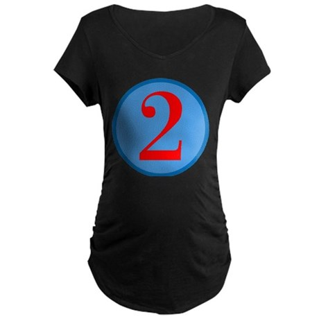 Number Two Birthday Maternity Dark T-Shirt