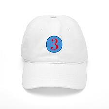 Number Three Birthday Baseball Cap
