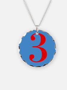 Number Three Birthday Necklace