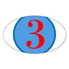 Number Three Birthday Decal