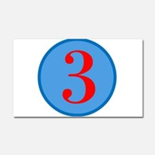 Number Three Birthday Car Magnet 20 x 12