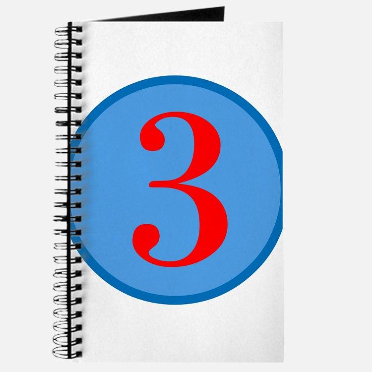 Number Three Birthday Journal