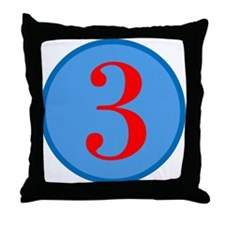 Number Three Birthday Throw Pillow