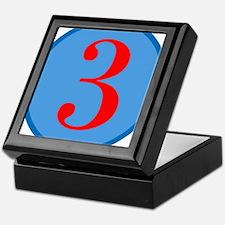 Number Three Birthday Keepsake Box