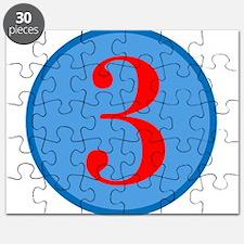 Number Three Birthday Puzzle