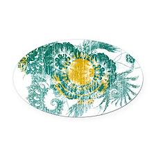 Kazakhstan Flag Oval Car Magnet