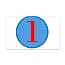 Number One Birthday Car Magnet 20 x 12