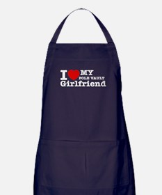 Cool Pole Vault Girlfriend designs Apron (dark)