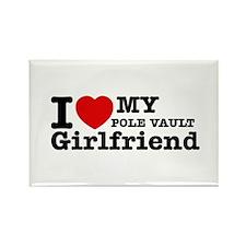 Cool Pole Vault Girlfriend designs Rectangle Magne