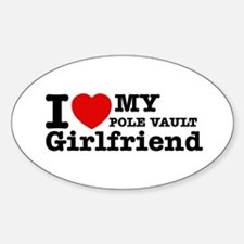 Cool Pole Vault Girlfriend designs Sticker (Oval)