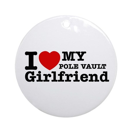 Cool Pole Vault Girlfriend designs Ornament (Round