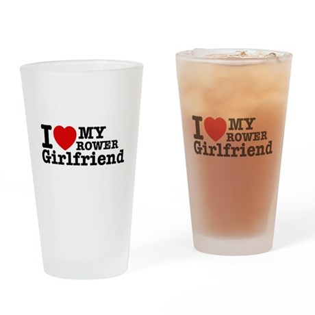 Cool Rower Girlfriend designs Drinking Glass