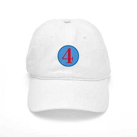 Number Four Birthday Cap
