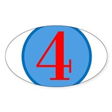 Number Four Birthday Decal