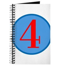 Number Four Birthday Journal