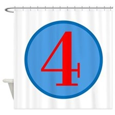 Number Four Birthday Shower Curtain