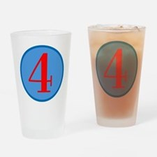 Number Four Birthday Drinking Glass