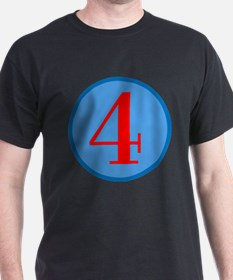 Number Four Birthday T-Shirt