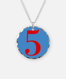 Number Five Birthday Necklace