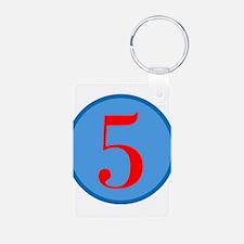 Number Five Birthday Keychains